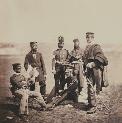 Brigadier General Van Straubenzee and Officers of The Buffs, 1855 (c)