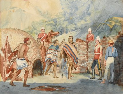 The capture of Cetshwayo, King of the Zulus, 28 August 1879
