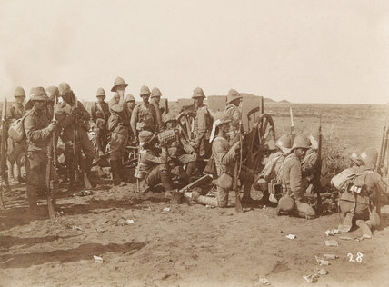'Waiting for the attack, Omdurman', Sudan, 1898