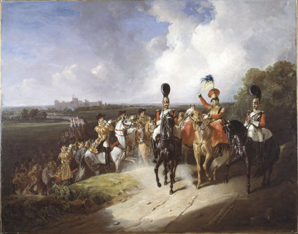 Band of the second regiment of Life Guards, leaving Windsor, 1830