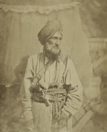 Pathan officer of the Punjab Irregular Cavalry, 1860 (c)