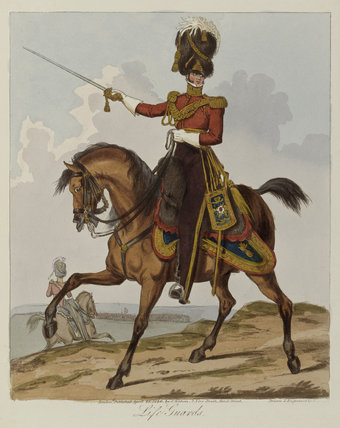 'Life Guards' officer, 1st Life Guards, 1820