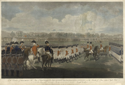 King George III at a review in Hyde Park, 4 June 1799