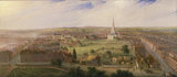 Birmingham from the Dome of St Philip's Church in 1821