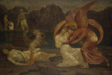 Cupid and Psyche - Palace Green Murals - Psyche receiving the Casket from Proserpine