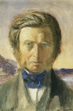 Portrait of John Ruskin, Head and Shoulders, Full Face