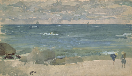 Beach scene with two figures