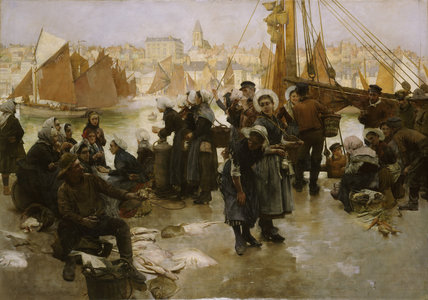 The Departure Of The Fishing Fleet , Boulogne