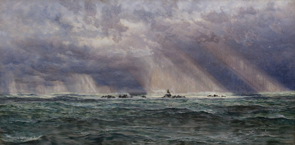 A North-West Gale off the Longships Lighthouse