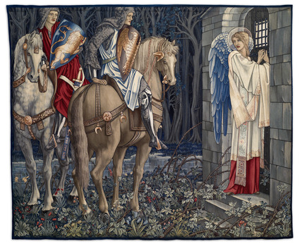Quest for the Holy Grail Tapestries - Panel 3 - The Failure of Sir Gawaine; Sir Gawaine and Sir Uwaine at the Ruined Chapel