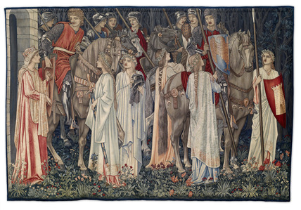 Quest for the Holy Grail Tapestries - Panel 2 - The Arming and Departure of the Knights