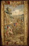 'Campement', one of 'The Art of War' tapestries in the Hall woven in Brussels by Le Clere & Van der Borch from cartoons by Lambert de Hondt, c 1710