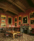 The Breakfast Room at Penrhyn Castle where the family would have when all the footmen would not required in the main Dining Room