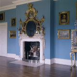 Carved and gilded chimneypiece in Mrs Child's Dressing Room at Osterley, designed by Cabinetmaker John Linnell