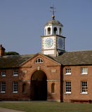 The Clock Tower of the Stable Block at Clumber Park, with the arch directly underneath it