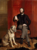 PORTRAIT OF 2nd EARL BROWNLOW by Sir Francis Grant (1810-1878)