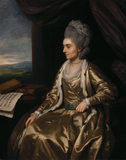 PORTRAIT OF MARGARET MASKELYNE, LADY CLIVE, by Nathanial Dance (POW/P/5), post-conservation at Powis Castle