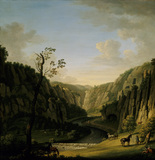A DERBYSHIRE LANDSCAPE by John Harris (active 1722-1759) 45x42in