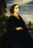 AUGUSTA EAST, LADY HOARE by Lord Leighton, 1830-96 in the Hall at Stourhead