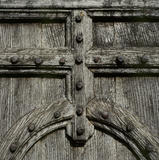 Close-up of a stout studded door at Anglesey Abbey
