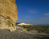 A view of the Seven Sisters from the beach at Cuckmere Haven