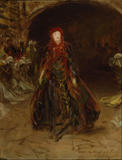 "ELLEN TERRY AT LADY MACBETH by John Singer Sargent Inscribed ""To my friend Miss Terry"