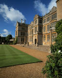 The east front of the House at Montacute, showing the main entrance, seen in the light of a warm early morning sunrise