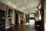 View along the Long Gallery at Gawthorpe Hall