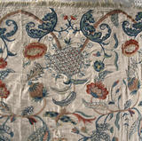 Detail from the mid C18th bedspread in the South Room