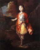 UNKNOWN BOY AS APOLLO a portrait, 17th century, English School,at Treasurer's House, York, after conservation