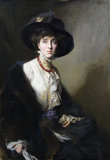 VITA SACKVILLE-WEST, a portrait by Philip de Laszlo at Knole in 1910 when Vita was eighteen. Vita did not like this portrait and it was only moved to its present location in the Library after her death.