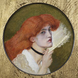 JANE MORRIS, by Dante Gabriele Rossetti (1828-1882) completed by Ford Madox Brown,(1821-1893), in the Drawing Roomat Wightwick Manor, Warwickshire