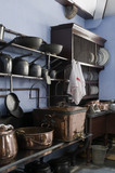 The small range in the Kitchen Scullery at Lanhydrock, Cornwall