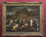 THE ISRAELITES GATHERING MANNA by Francesco Bassano (1549-92), painting in the Duke's Dressing Room at Ham House, Richmond-upon-Thames