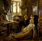 THE DEATH OF THE VENERABLE BEDE IN JARROW PRIORY by William Bell Scott (1811-1890)