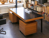 Desk in the studio at 2 Willow Road, Hampstead, designed by Erno Goldfinger