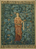 POMONA TAPESTRY DESIGN 1884 watercolour and body colour figure by Burne-Jones (1833-1898), background by William Morris (1834-1896)