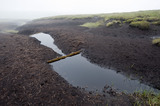 Dams in the gullies in the blanket peat on the High Peak Estate, in the Peak District National Park, Derbyshire