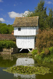 The Gatehouse spanning the moat to Lower Brockhampton House, the medieval manor house on the Brockhampton Estate in Worcestershire
