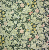 Detail of Leicester wallpaper by J H Dearle from Morris & Co, in the Morning Room at Wightwick Manor