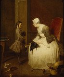 LA GOUVERNANTE by Jean-Baptiste-Simeon Chardin (1699-1779) (The Gouverness) from Tatton Park