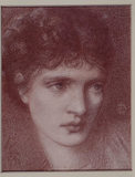 PORTRAIT OF A WOMAN, POSSIBLY MARIA ZANBACO, by Sir Edward Burne-Jones