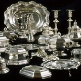 The Booth family's collection of 18th-century silver in the Queen Anne Room at Dunham Massey