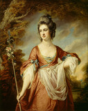ELIZABETH CUST, Mrs Yorke, as a shepherdess by Francis Cotes (1726-1770)
