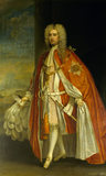 VISCOUNT TYRCONNEL (1690-1754) by Charles Jervas, wearing the robes of a Knight of the Order of the Bath