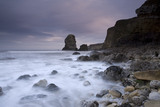 Pompeys Pillar and the cliffs of The Leas from Marsden Bay, South Tyneside