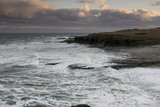 Rough winter seas at The Wherry, The Leas, South Tyneside