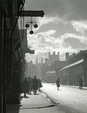 Brook Street in shadows, Chester.