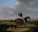"W.DAVIS 1830 - ""1st Marquess of Anglesey on horseback with his dog out shooting"""