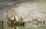 VIEW OF VENICE by Edward William Cooke, (1811-1880) in the Drawing Room at Cragside